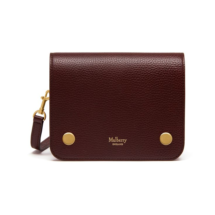 Mulberry - Small Clifton in Oxblood Natural Grain Leather