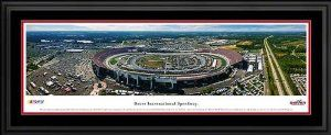 "NASCAR Tracks - Framed Panoramic Photo by Blakeway. $189.95. This aerial panoramic photograph of Dover International Speedway features the speedway during one of its two annual NASCAR Sprint Cup Series race weekends. Affectionately known as the ""Monster Mile,"" Dover International Speedway is a high-banked, one-mile concrete oval that seats 135,000 guests. Located in the heart of the country's Mid-Atlantic region, Dover has been a fixture on the NASCAR Sprint Cup..."