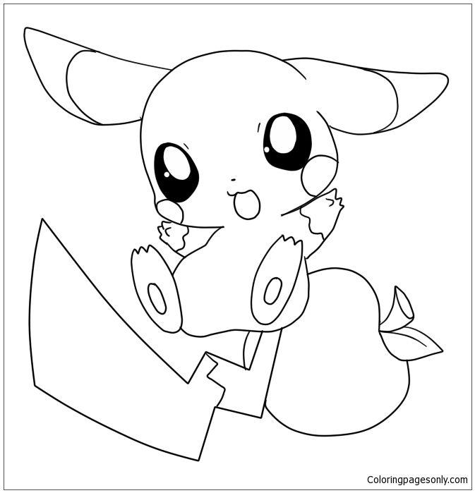 Cute Baby Pokemon Coloring Pages Pokemon Ausmalbilder Pokemon Zum Ausmalen Pikachu Zeichnung