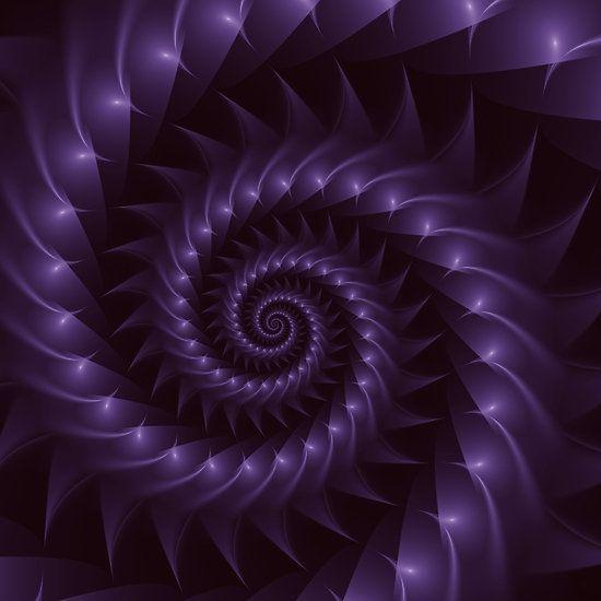 Purple Spiral Fractal