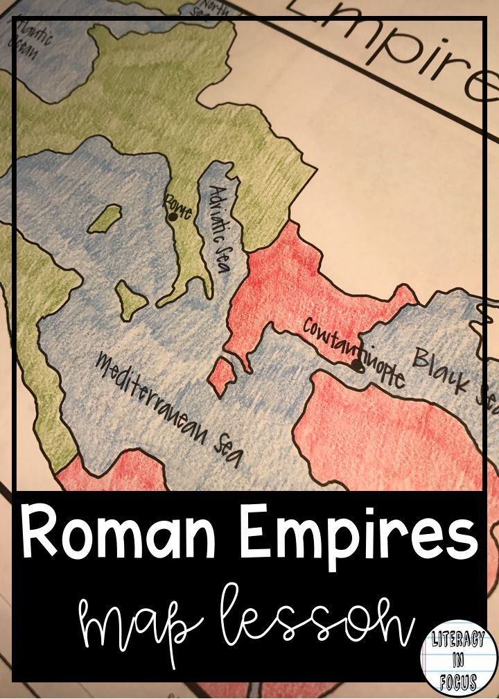 Roman Empires Map Lesson and Assessment Digital
