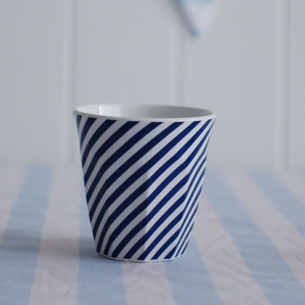 Cup Navy + White Stripe. For more information Please take a moment to visit our website : https://www.redplumlinen.com.au/