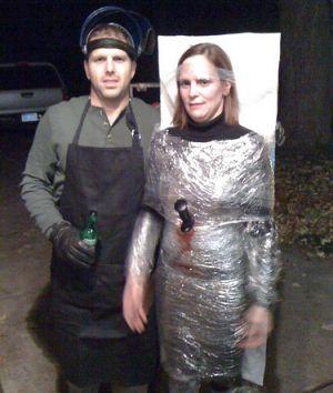serial killer and victim couples costume idea creative couples halloween costume ideas halloween - Mens Couple Halloween Costumes