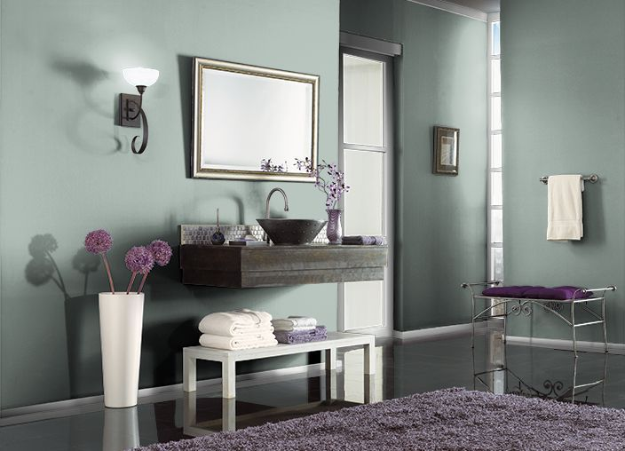Delightful Smokey Slate Behr Paint Color Bathroom | ... Behr.com. I Used