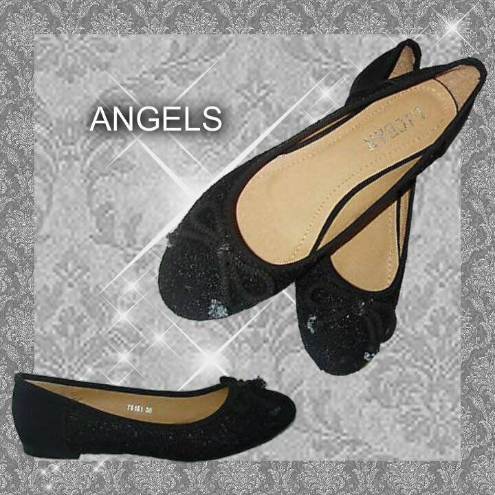 OCCASIONE!!!!!  BALLERINE Ladies Shoe DONNA NERE con strass scintillanti davanti