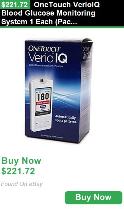 Glucose Monitors 72874: Onetouch Verioiq Blood Glucose Monitoring System 1 Each (Pack Of 8) BUY IT NOW ONLY: $221.72