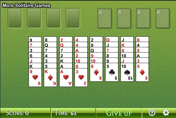 Dig Solitaire provides free Solitaire games you can play online. We have more than 10 variations of the game (including Freecell, Spider, Klondike etc).  http://www.digsolitaire.com