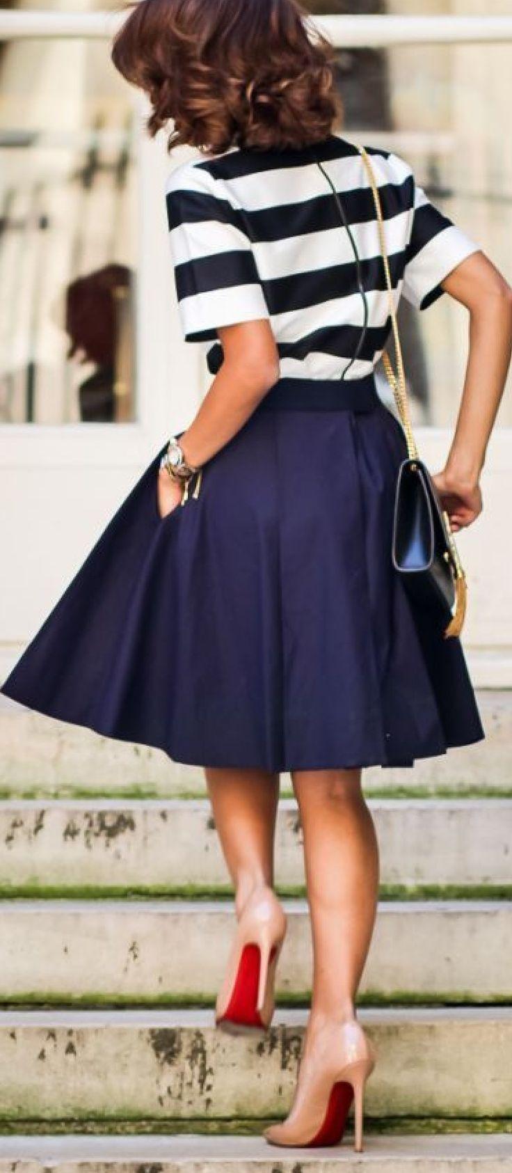 Azul con rayas #bualá outfit