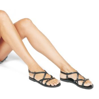 its more than a flat sandal…''magnolia'' black the Most Chic sandals collection