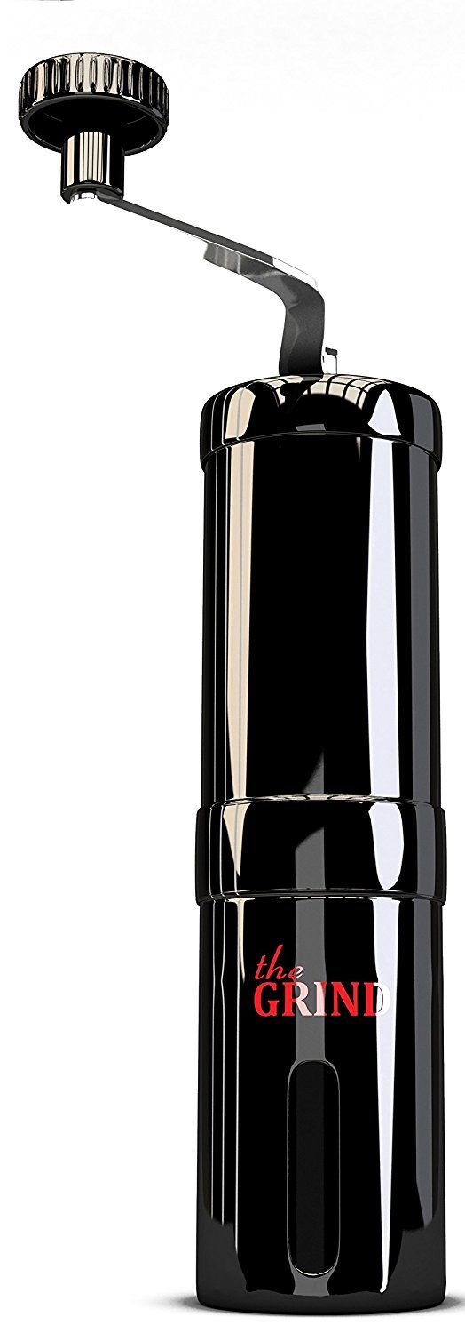 Black Stainless Steel Manual Coffee Grinder with Adjustable Ceramic Conical Burr for Consistent Fine Grind. Hand Crank Bean Mill For Espresso ** Read more reviews of the product by visiting the link on the image.