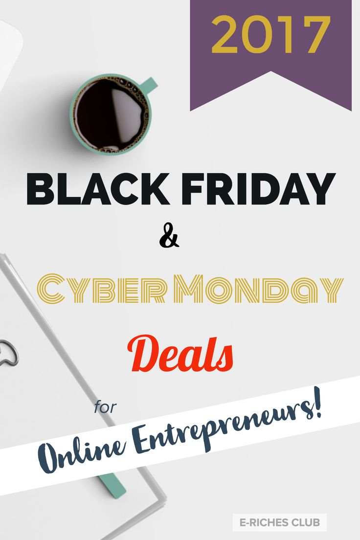 This is the best time of the year to get all those much needed tools and programs for your website! Check out the latest post - Black Friday and Cyber Monday Deals for Online Entrepreneurs - 2017 #erichesclub #blackfriday #CyberMonday #blogpost #onlinebusiness