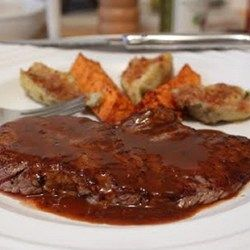 Minute Steaks with Barbeque Butter Sauce - Allrecipes.com