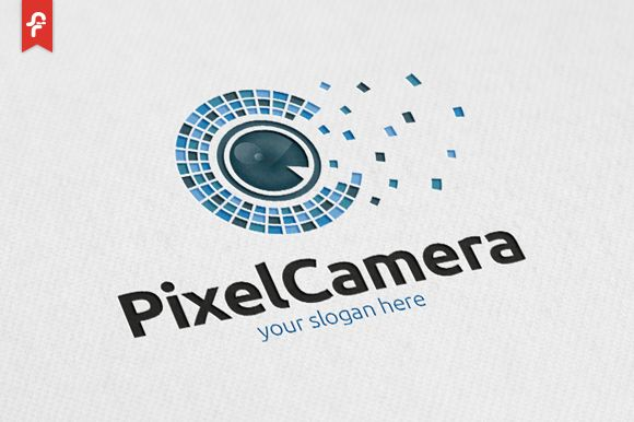 Pixel Camera Logo  by@Graphicsauthor