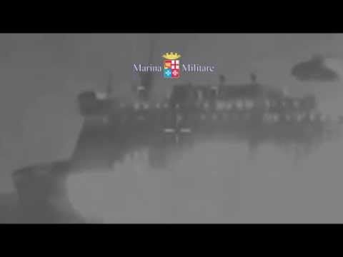 Norman Atlantic Video di Notte Traghetto in Fiamme - Marina Militare