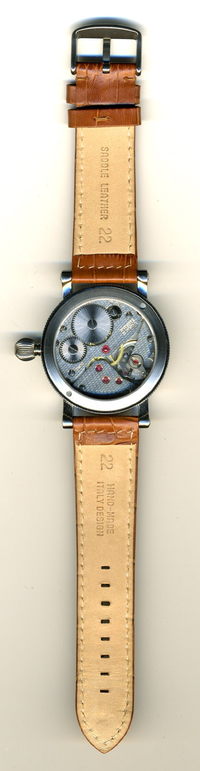 The back of The Bennett Field Watch.  So cool.
