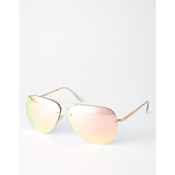 Quay Australia x Amanda Steele Muse Pink Mirror Oversized Aviator (€62) ❤ liked on Polyvore featuring accessories, eyewear, sunglasses, goldpastel, mirrored aviator sunglasses, mirrored sunglasses, mirror aviators, aviator style sunglasses and pink aviators