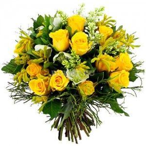 Букет из желтых роз «Солнышко»