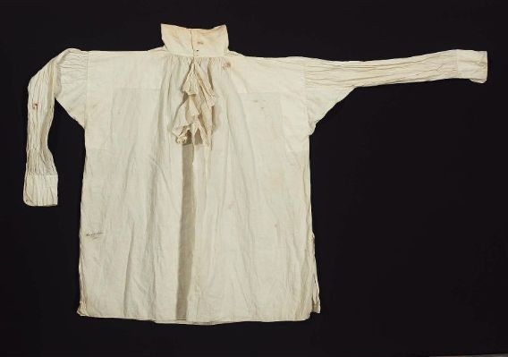 Man's white linen shirt American, 19th century United States DIMENSIONS 97 x 97 cm (38 3/16 x 38 3/16 in.) MEDIUM OR TECHNIQUE Linen plain w...