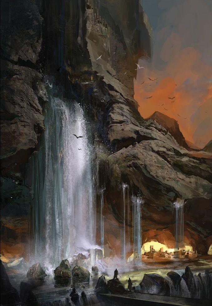 Sunset Falls By Sona Sargsyan Fantasy Pinterest