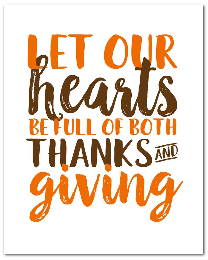 Free Thanksgiving Printable   This free (instant download) 8x10 printable is perfect for all season long.