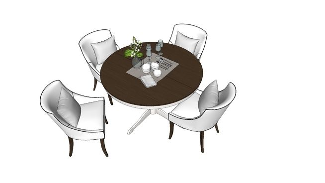 bàn ăn classic - 3D Warehouse