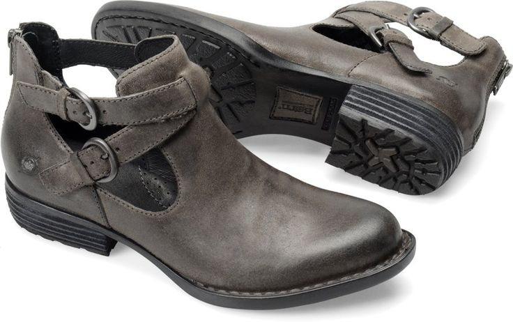 Born Kamilla in Peltro Oiled Suede - Born Womens Boots on Bornshoes.com