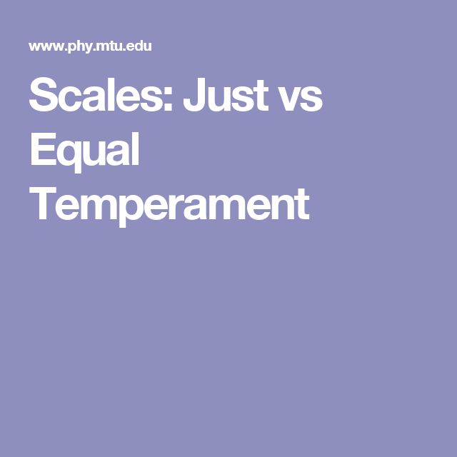 Scales: Just vs Equal Temperament