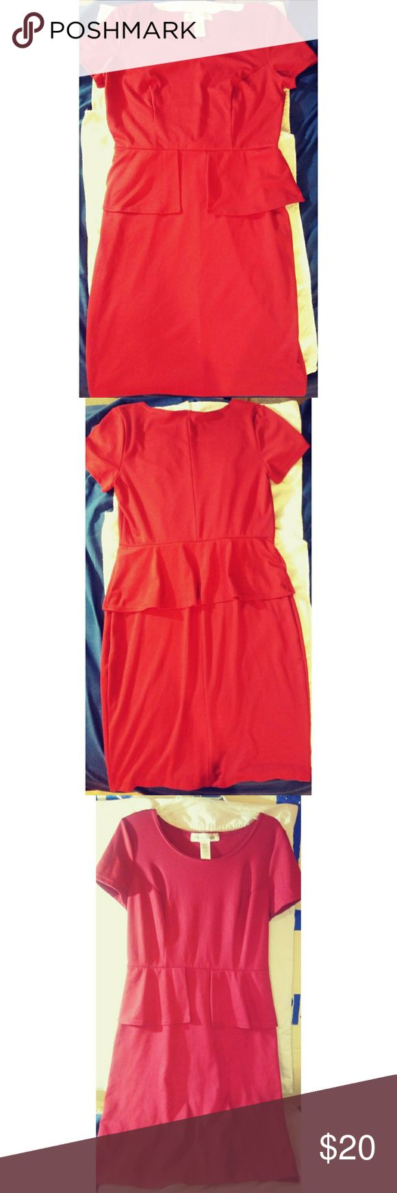 Peplum Dress Offers Welcomed  Bundles welcomed and discounted Red Peplum dress worn once In excellent condition  No signs of wear at all Very versatile dress & Other Stories Dresses