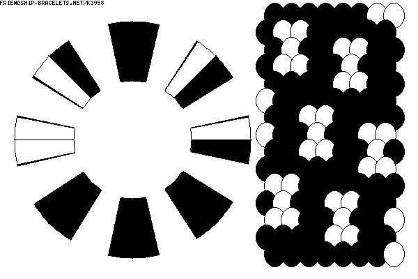 Kumihimo Pattern-16 threads-K3958 - friendship-bracelets.net