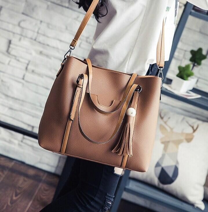 Womens Large Tote Bag with Shoulder Strap by Coseey