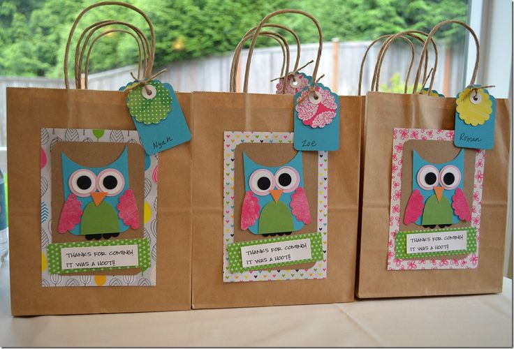 Classroom Birthday Party Favors ~ Owl birthday themes some fun party gift bags i