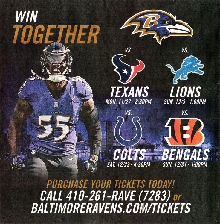 Is there trouble at M & T Stadium?  Newspaper ad in the Baltimore Sun for Wednesday, November 15, 2017.