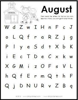 18 best Letter Naming Fluency images on Pinterest