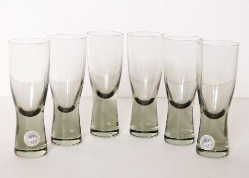 6-Kastrup-HOLMEGAARD-Per-Lutken-CANADA-Smoked-PORT-SHERRY-60ml-GLASSES-Denmark