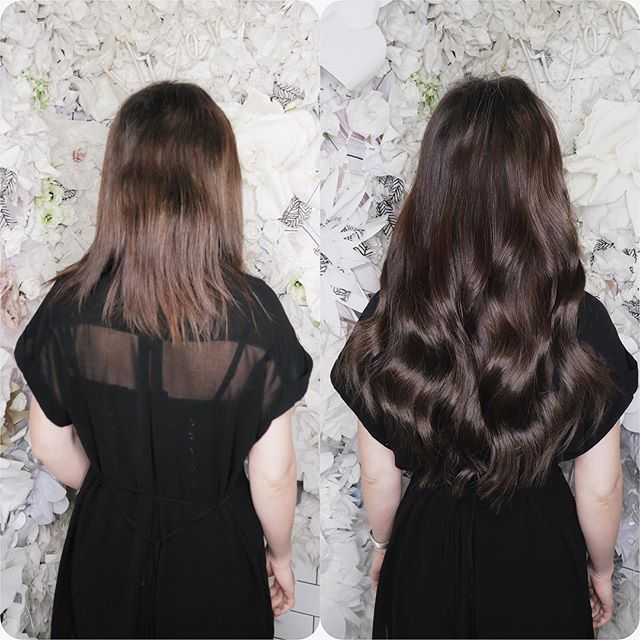 This is a Full Head of the Completely Seamless Clip In Hair Extensions in colour 002 Dark Brown. This client loved the instant volume and length and how easy they were to fit.  #clipins #clipinextensions #clipinhair #hair #hairextensions #hairextensionslondon #hairextensionspecialist #hairlondon #londonhair #beforeandafter