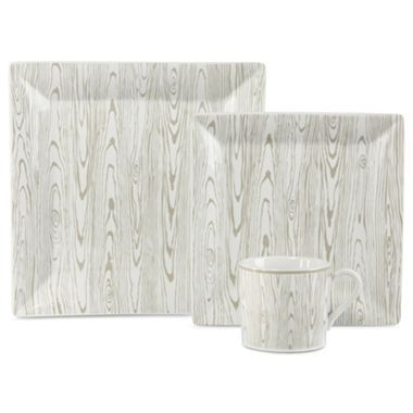 jcp EVERYDAY™ Faux Bois Square Dinnerware - jcpenney  sc 1 st  Pinterest & 53 best Faux Bois images on Pinterest | Dinnerware Buffets and ...