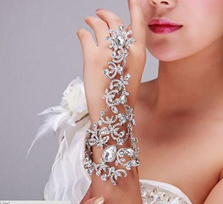 Rhinestone Arm Wrap Wedding Prom Bridal Fashion Bling Formal Bracelet