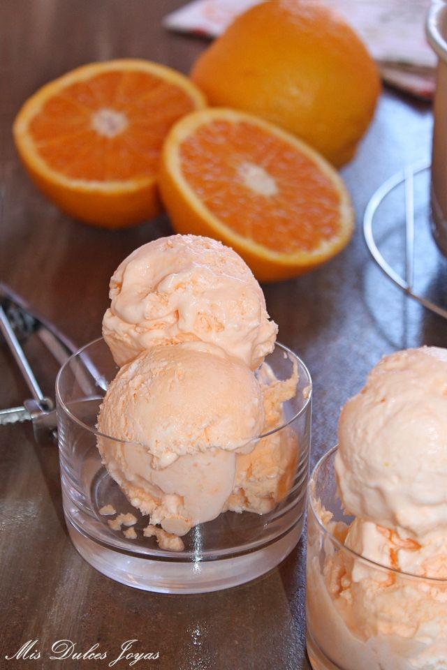Mis Dulces Joyas: Helado de naranja cremoso y sin heladera