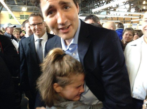 """It was amazing,"" Hannah told CBC News. She said she's a Trudeau fan ""because he lets the refugees come to Halifax and Canada and lets them have a better life, and he's so pretty."" 
