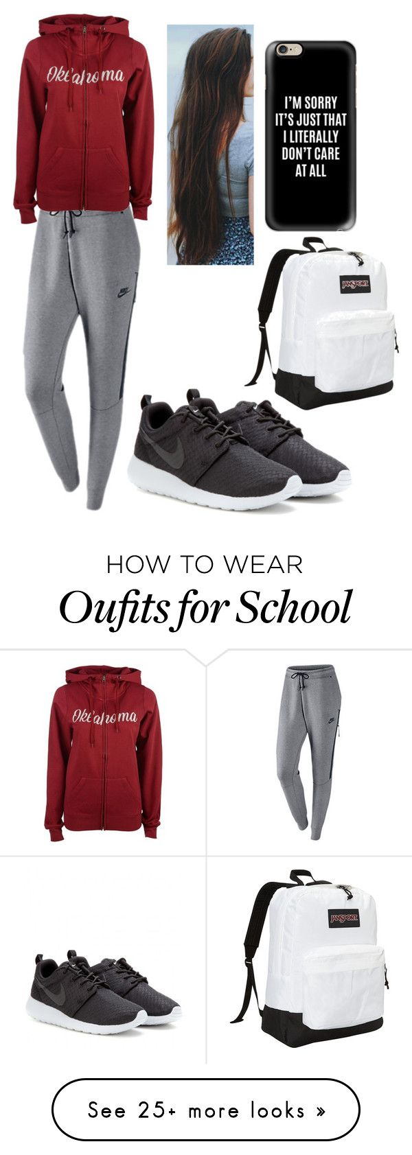 """School is almost over"" by tessajeane on Polyvore featuring NIKE, Colosseum, Casetify and JanSport"