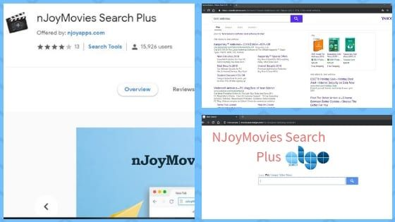 NJoyMovies Search Plus is a dubious browser extension that causes