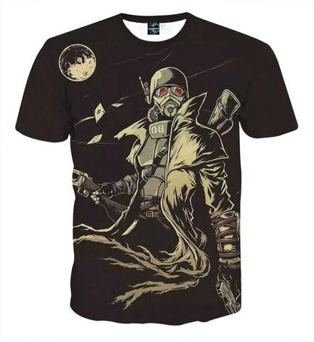 Fallout New Vegas Fan Art Design Cool Game T-Shirt - Game Geek Shop  #Fallout #New #Vegas #FanArt #Design #Cool #Game #TShirt - #GameGeekShop