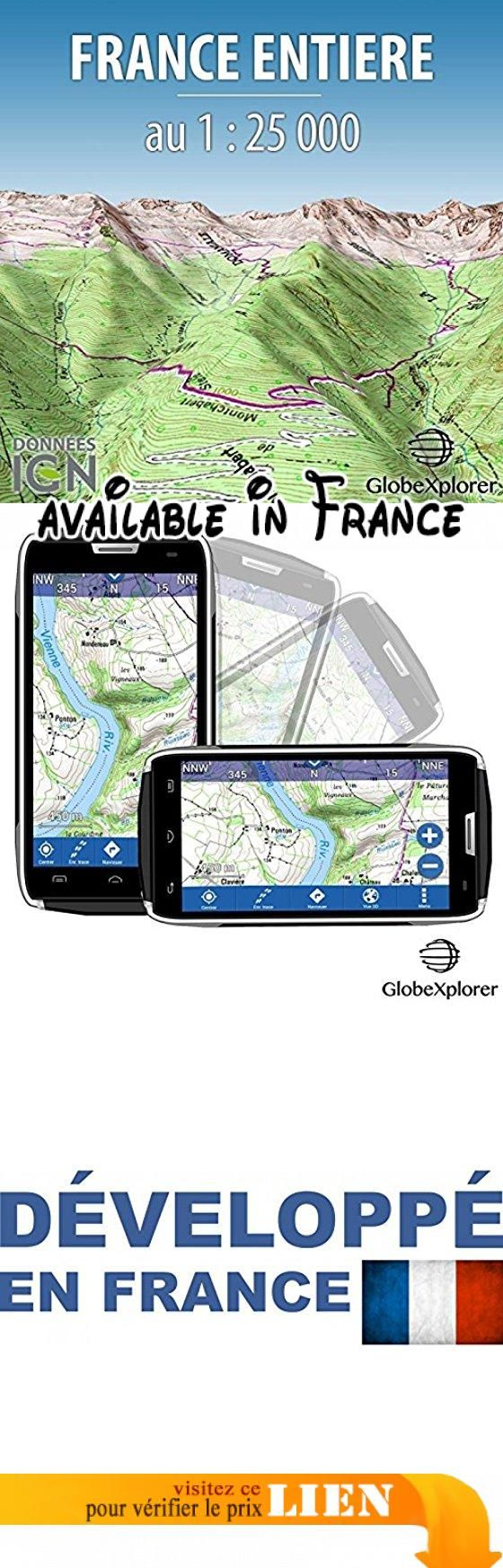 Carte Topographique France entière - Pack France entière - France - 1 : 25 000. GPS carte IGN application navigation #Sports #SPORTING_GOODS