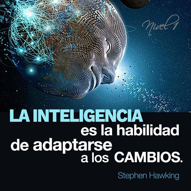 """""""La inteligencia es la habilidad de adaptarse a los cambios."""" Stephen Hawking. #frases #quotes #inteligencia #adaptacion #cambios"""