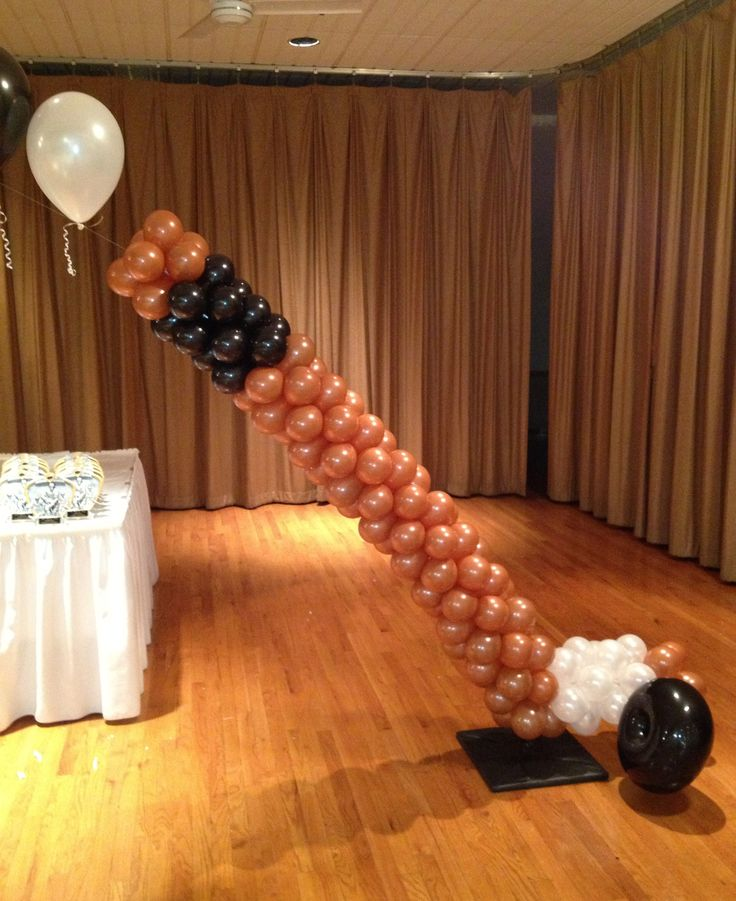 17 best images about sports theme party on pinterest for Balloon decoration chicago