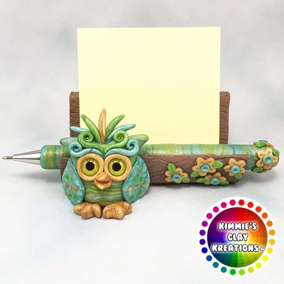 Polymer Clay Business Card Holder - Cake Toppers, Jewelry Pendants, Ornaments, Figurines, Characters, Sculptures, Miniatures - Cute Collectible Whimsical - Kimmie's Clay Kreations