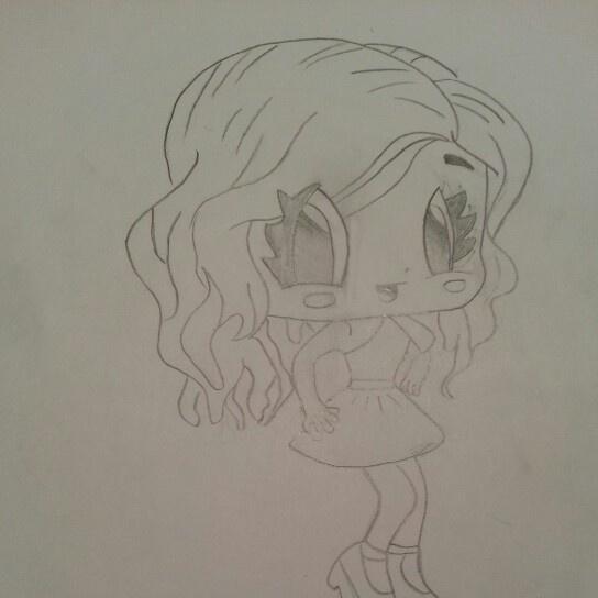 A really cute girl chibi!   Drawings   Pinterest