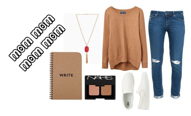 """""""Casual Mom Outfit"""" by krosefashion18 on Polyvore featuring Paige Denim, Joules, Uniqlo and NARS Cosmetics"""