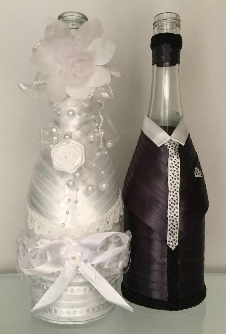 Pimped bottles wedding