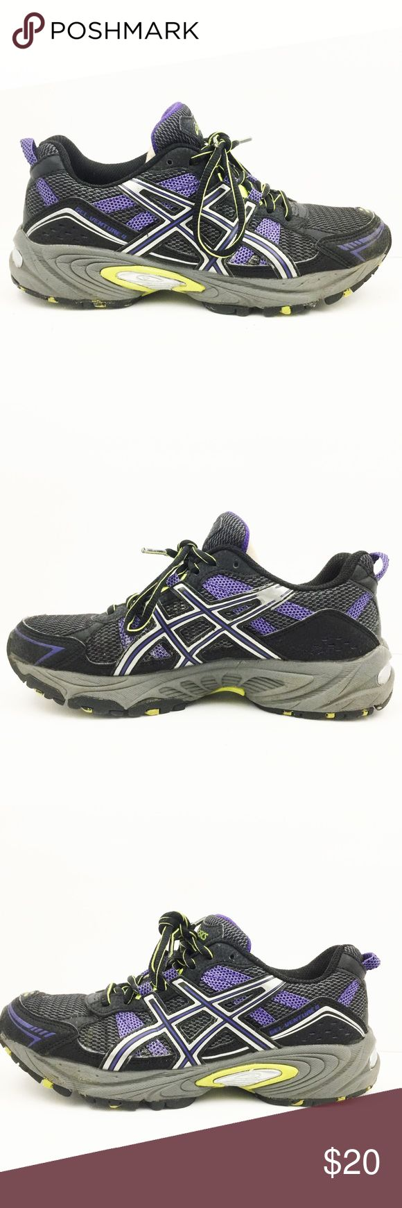 ASIC Gel Venture 4 Women's Running Shoes ASIC Gel Venture 4 Women's Running Training Shoes. Gray, Purple, Black. Asics Shoes Athletic Shoes